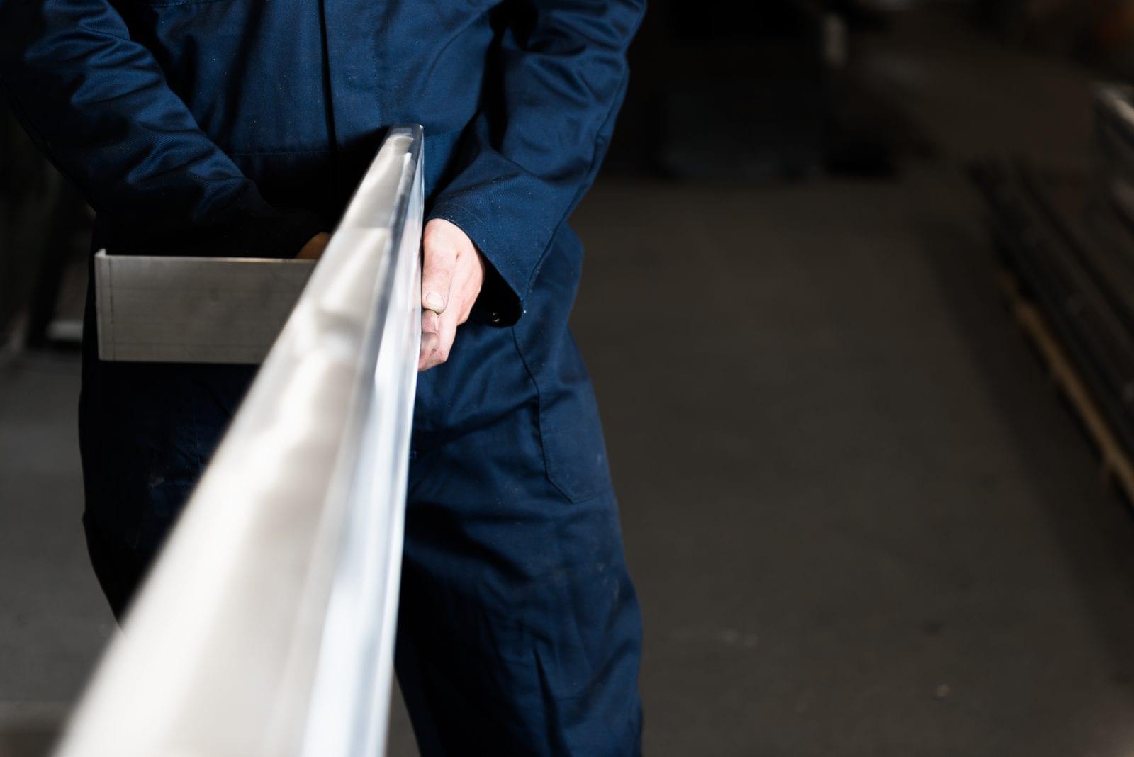 Luxe houten overkapping aluminium