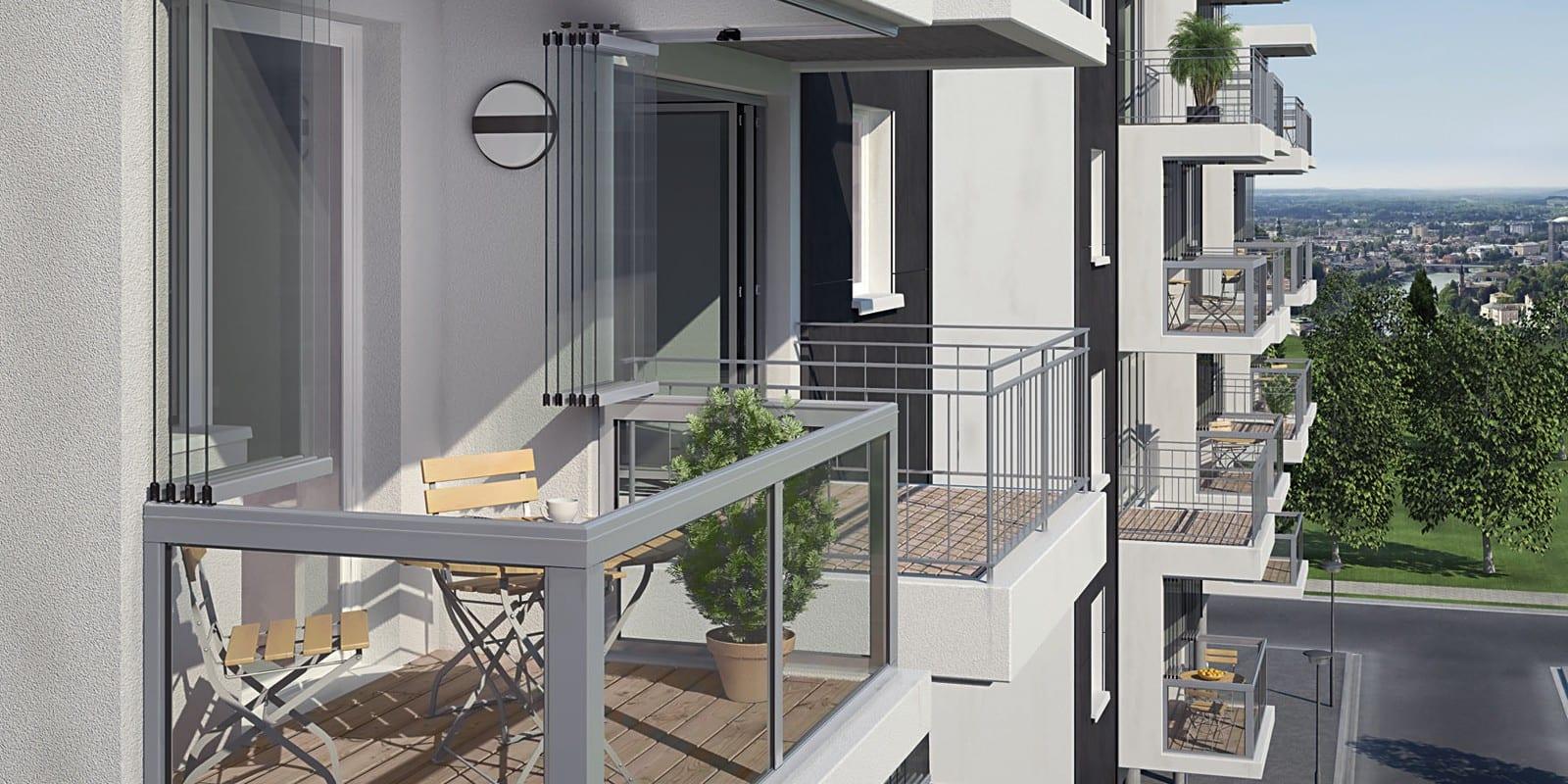 Balkonbeglazing glaswand
