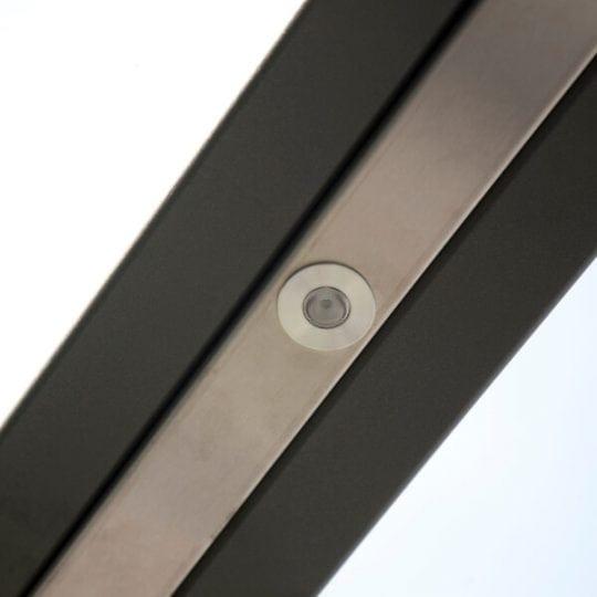Glazen terrasoverkapping staal