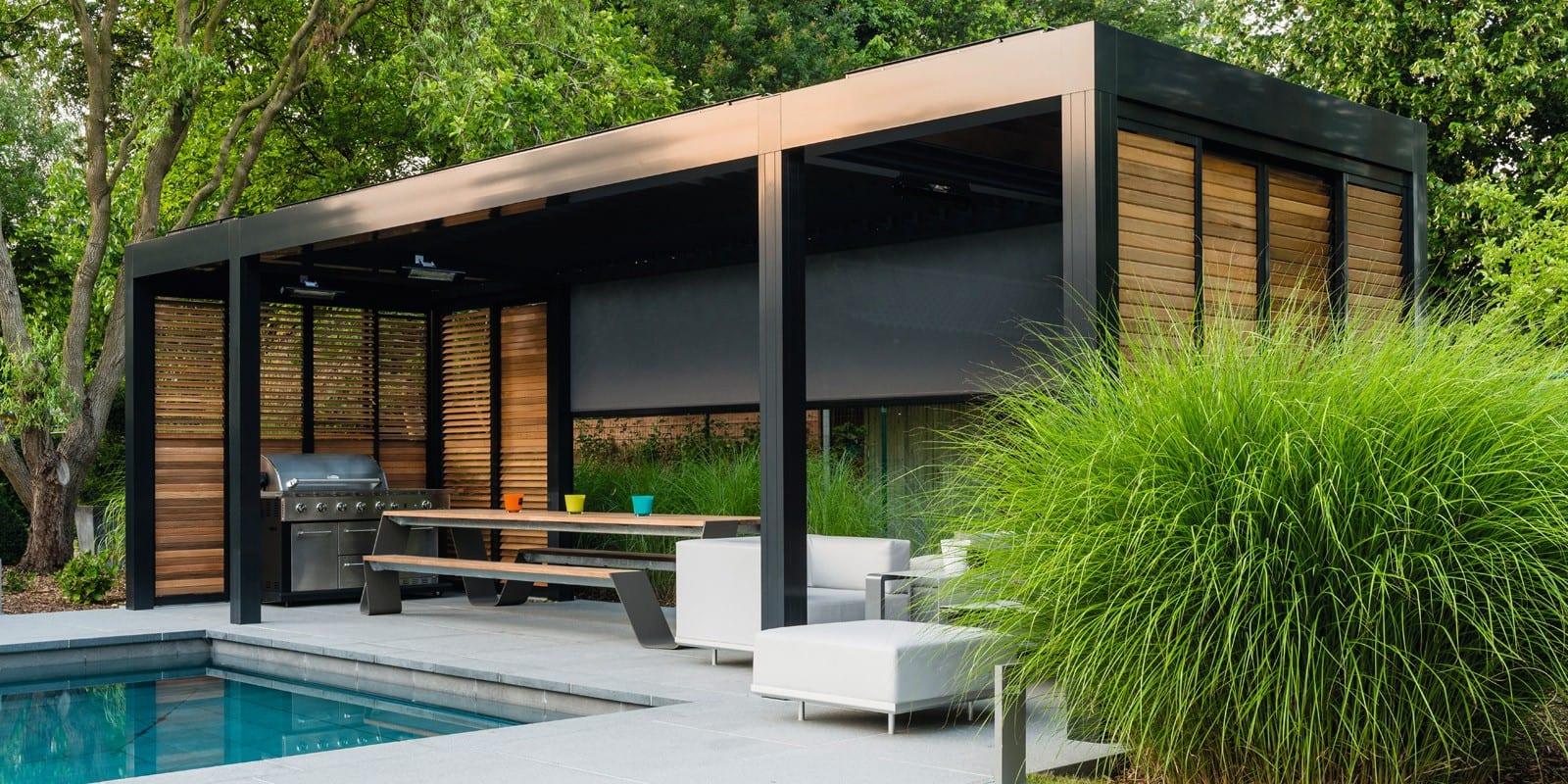 Lamellen poolhouse