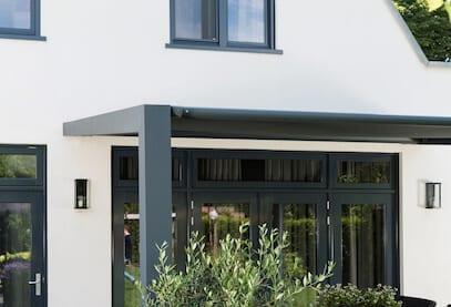 Aluminium terrasoverkapping met doek