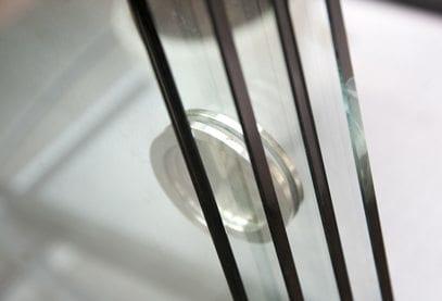 Houten overkapping met glas