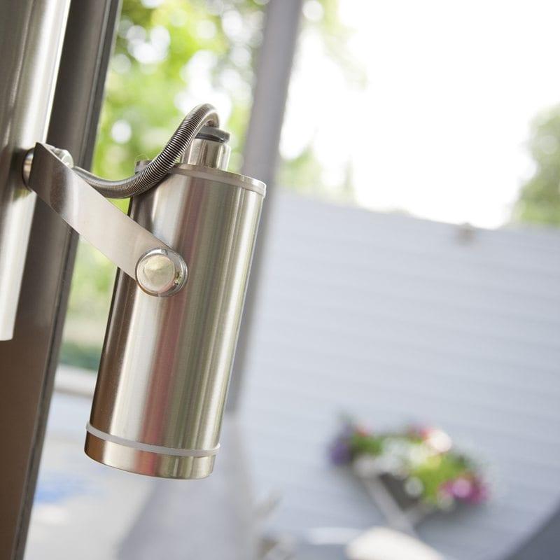Houten overkapping glas