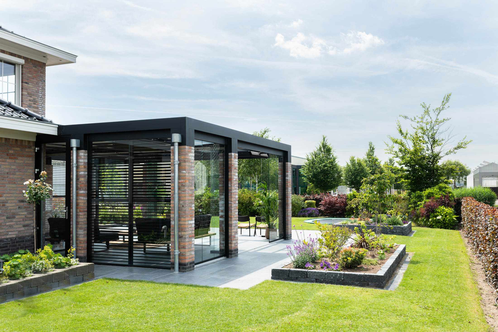 Terras glaswanden tuinkamer
