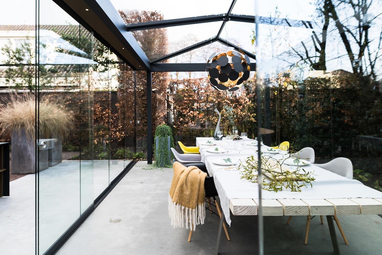 Alysa glazen tuinkamer vrijstaand