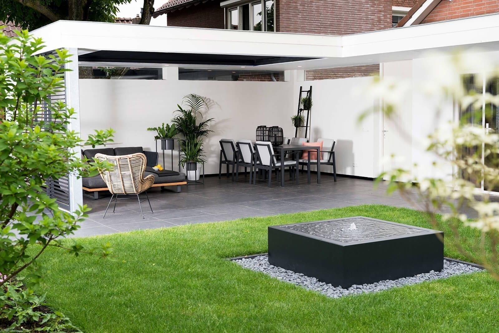 Lamellen terrasoverkapping Vince Van van Ee